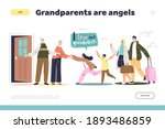visiting grandparents concept... | Shutterstock .eps vector #1893486859