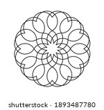 vector isolated simple round... | Shutterstock .eps vector #1893487780