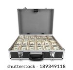 Case Full Of Dollar On White...