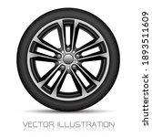 realistic alloy wheel car tire...   Shutterstock .eps vector #1893511609