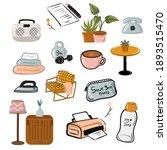 hand drawn hygge set indoor... | Shutterstock .eps vector #1893515470