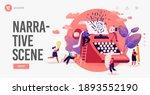 people enjoying narration ... | Shutterstock .eps vector #1893552190