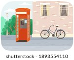 empty london red classic... | Shutterstock .eps vector #1893554110