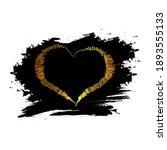 gold glitter hearts on black... | Shutterstock .eps vector #1893555133