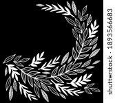 monochrome messy linear leaves...   Shutterstock .eps vector #1893566683