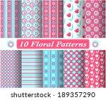 set of pink simple geometric... | Shutterstock .eps vector #189357290