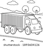 cute and funny coloring page of ... | Shutterstock .eps vector #1893604126