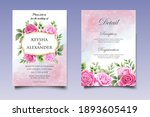 wedding invitation card with... | Shutterstock .eps vector #1893605419
