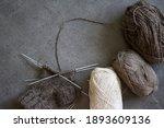 Knitting Socks. Needlework In...