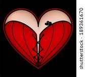 corset heart with lacing icon.... | Shutterstock .eps vector #189361670