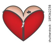 corset heart with zipper icon.... | Shutterstock .eps vector #189362258