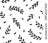hand drawn small leaves vector... | Shutterstock .eps vector #1893631960