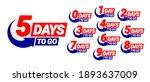 countdown left days banner.... | Shutterstock .eps vector #1893637009
