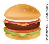 burger emoji vector design. bbq ... | Shutterstock .eps vector #1893640099