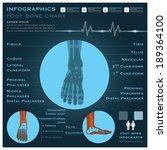 foot bone infographic... | Shutterstock .eps vector #189364100