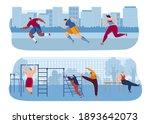 street workout exercises vector ... | Shutterstock .eps vector #1893642073
