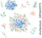 Watercolor Clipart Of Floral...