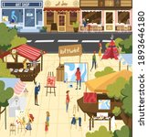 people on art market vector...   Shutterstock .eps vector #1893646180