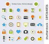 sticker icons.vector design | Shutterstock .eps vector #189364856