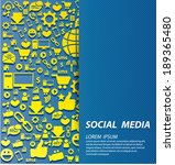 social media concept vector... | Shutterstock .eps vector #189365480