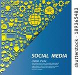 social media concept vector... | Shutterstock .eps vector #189365483
