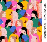 seamless colorful women of... | Shutterstock .eps vector #1893655936