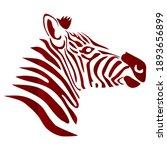 the head of zebra vector... | Shutterstock .eps vector #1893656899