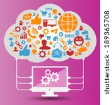 social media concept vector...   Shutterstock .eps vector #189365708