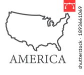 map of usa line icon  country...   Shutterstock .eps vector #1893661069