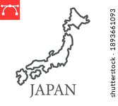 map of japan line icon  country ... | Shutterstock .eps vector #1893661093