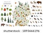 flat design of germany wildlife.... | Shutterstock .eps vector #1893666196