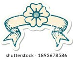 worn old sticker with banner of ... | Shutterstock .eps vector #1893678586