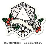sticker of a natural one d20... | Shutterstock .eps vector #1893678610