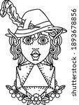 black and white tattoo linework ... | Shutterstock .eps vector #1893678856