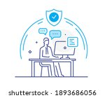 businessman working remotely ... | Shutterstock .eps vector #1893686056