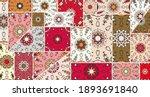vector patchwork quilt pattern. ...   Shutterstock .eps vector #1893691840