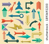 direction arrows icon set.... | Shutterstock .eps vector #1893692203