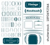 vintage brackets and divider... | Shutterstock .eps vector #1893692566