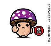 deadly poisonous mushroom... | Shutterstock .eps vector #1893692803