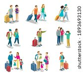man and woman traveler with...   Shutterstock .eps vector #1893693130