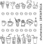 food and drink icons in... | Shutterstock .eps vector #1893693616