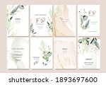 set of card template with herbs ... | Shutterstock .eps vector #1893697600