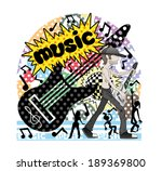 vector illustration. music. | Shutterstock .eps vector #189369800