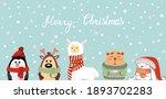 christmas illustration. set of...   Shutterstock . vector #1893702283
