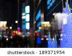 display of stock market quotes  | Shutterstock . vector #189371954