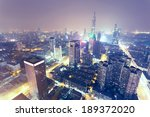 city skyline at night | Shutterstock . vector #189372020