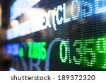 display of stock market quotes  | Shutterstock . vector #189372320
