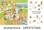 find 20 objects in the picture. ... | Shutterstock .eps vector #1893727660