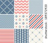 navy vector seamless patterns... | Shutterstock .eps vector #189372920