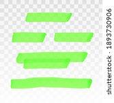 green highlighter transparent... | Shutterstock .eps vector #1893730906